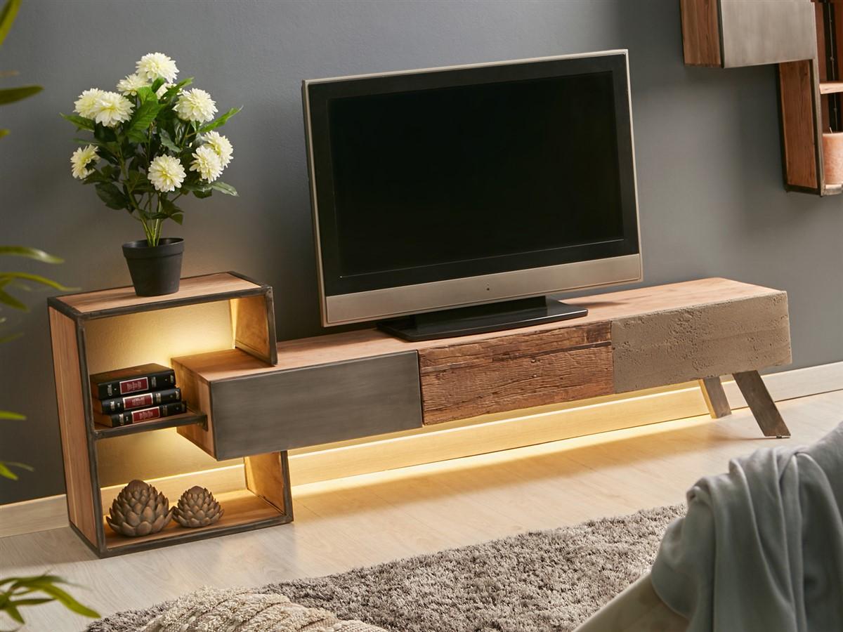 Mueble bajo TV estilo rustico industrial