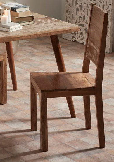 Silla comedor madera rustica maciza