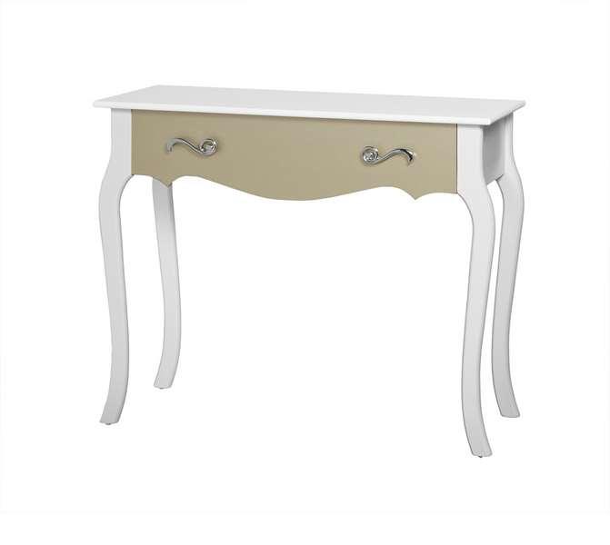 Mueble recibidor blanco oro moderna