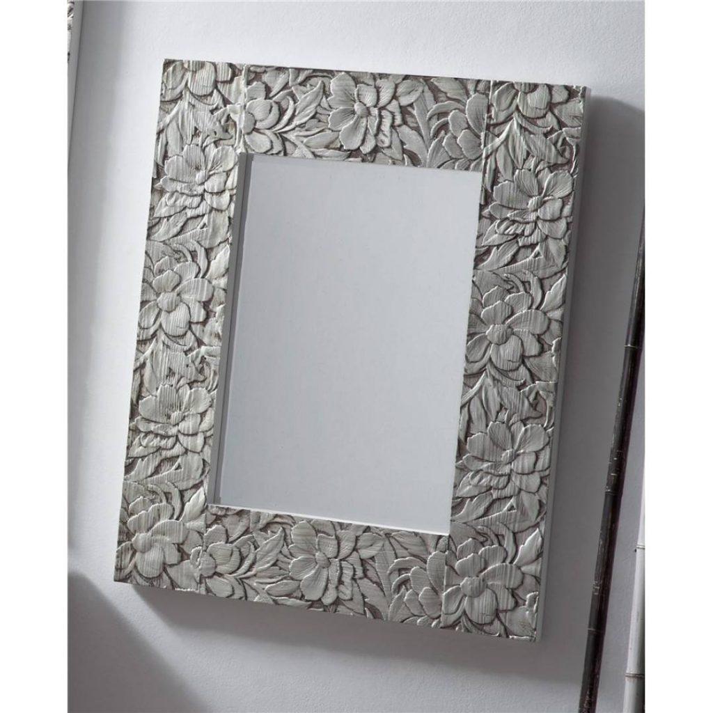 Espejo recibidor tallado plata