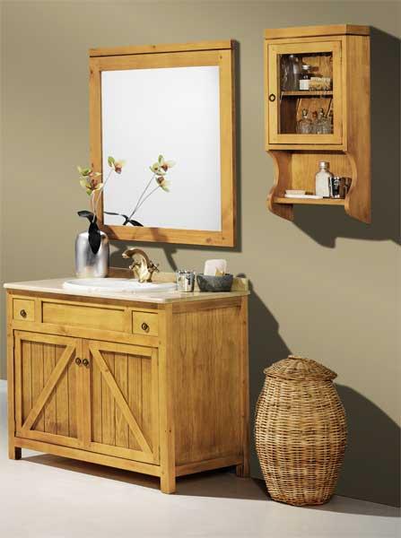 Mueble 2 puertas baño rustico actual