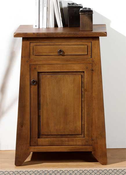 Mueble auxiliar baño rustico