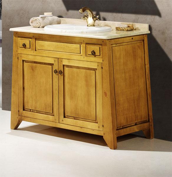 Mueble baño contemporaneo rustico 2 puertas