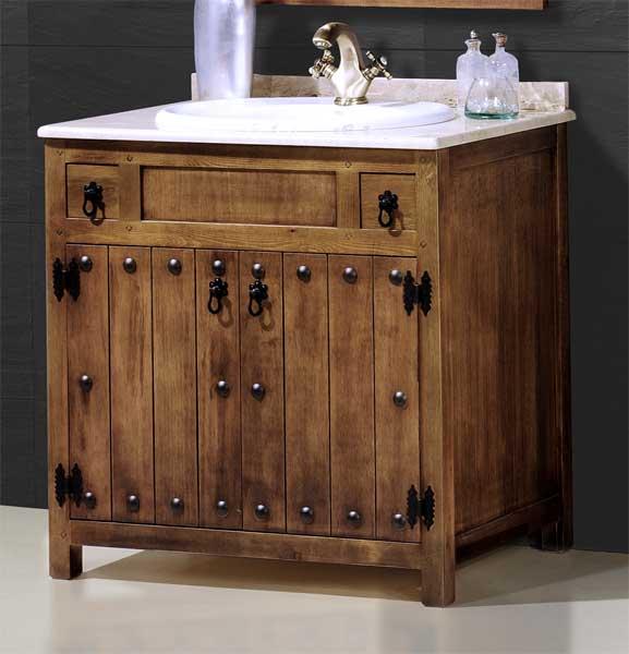 Mueble baño rustico clasico
