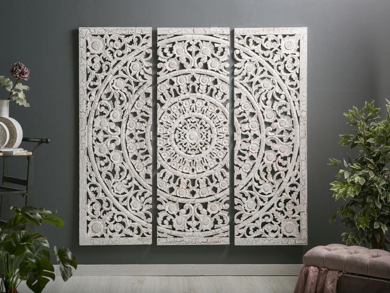 Panel decoracion tallado indio pared