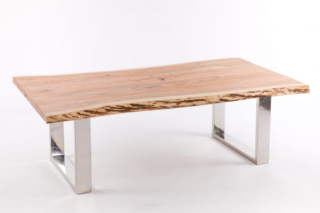 Mesa de centro rustica moderna madera acero