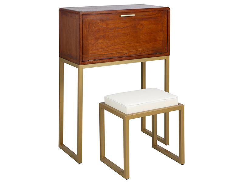 Mesa escritorio salon colonial actual