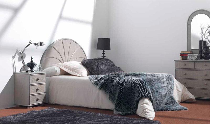 Cabecero dormitorio rattan actual