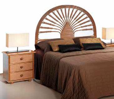 Cabecero dormitorio rattan