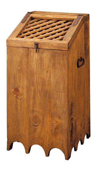 Cesto ropa madera rustico