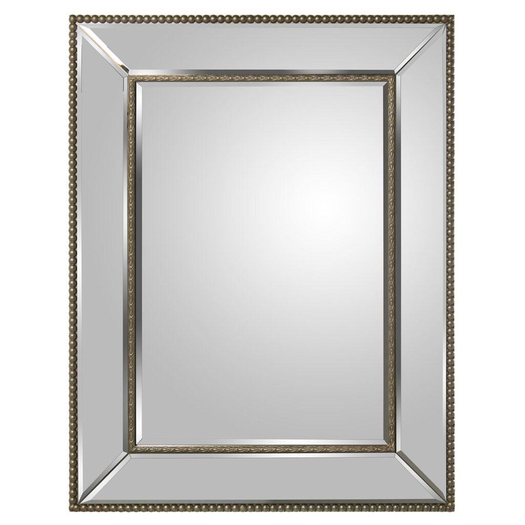 Espejo recibidor clasico plata