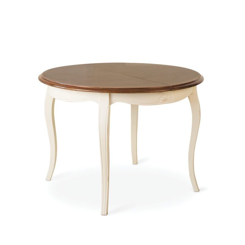 Mesa redonda comedor estilo clasico vintage blanco