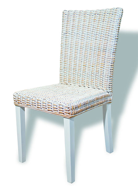 Silla rattan natural decape blanco