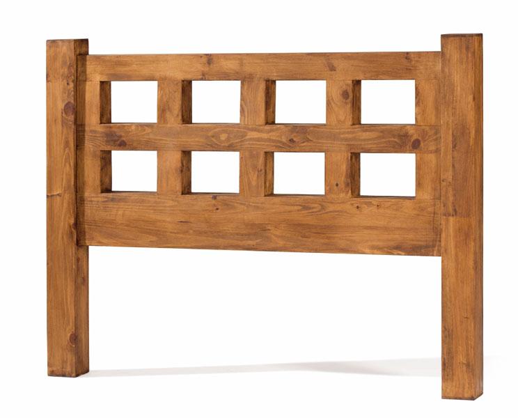 Cabecero madera maciza rustico