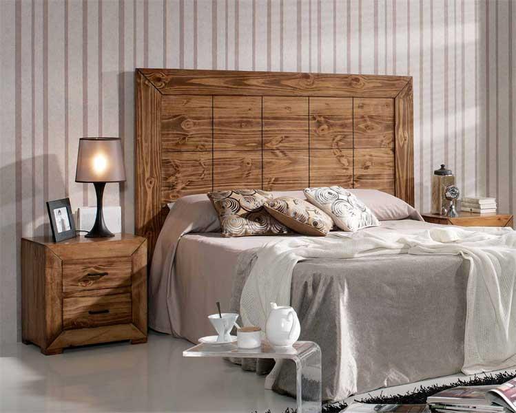 Cabecero rustico 3 tamaños madera maciza