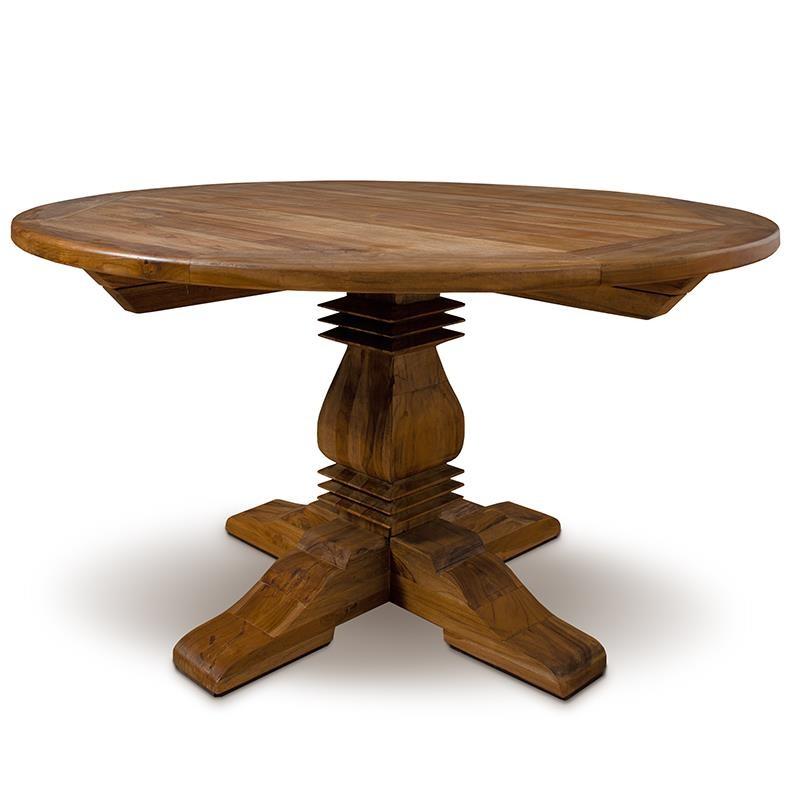 Mesa comedor redonda madera maciza