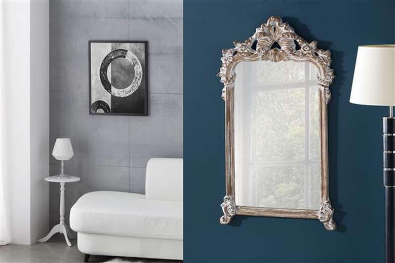 Espejo tallado blanco decape clasico