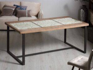 Mesa comedor tallada blanca madera