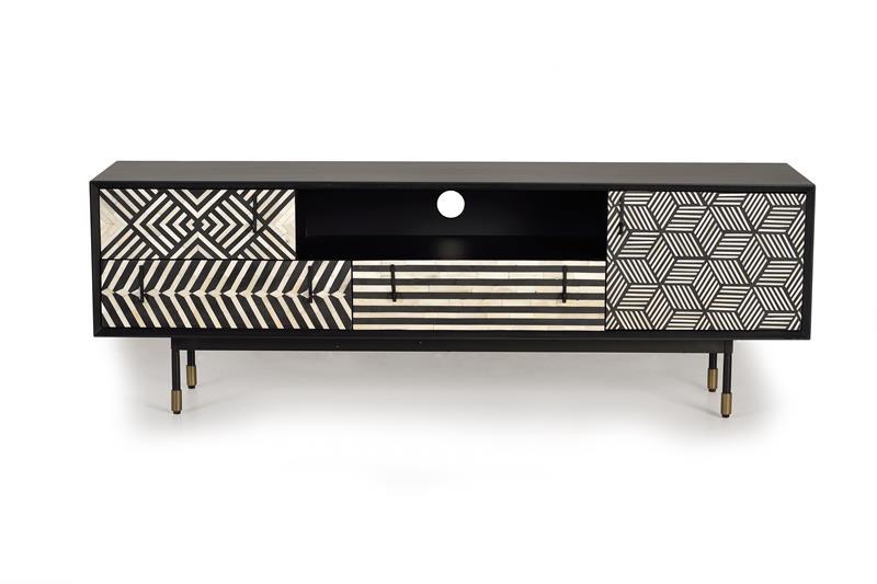 Mueble bajo TV diseño madera y hueso