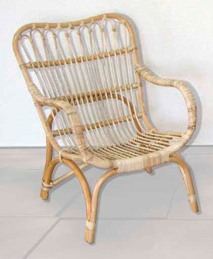Sillon rattan actual natural
