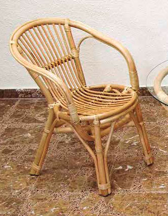 Sillon rattan terraza natural