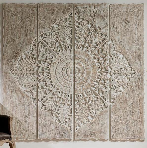 Mural madera tallada oriental