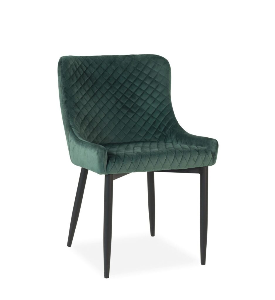 Silla salon comedor tapizada verde