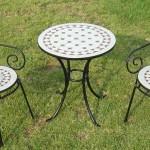 Conjunto 2 sillones y mesa forja jardin