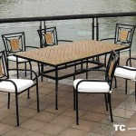 Conjunto 6 sillones y mesa forja exterior