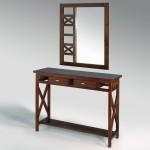 Mueble recibidor con espejo cruces