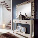 Consola colonial blanca para el recibidor, Mueble recibidor blanco, mueble clasico para el recibidor, mueble entrada