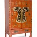 Armario boda chino, Armario 2 puertas chino, armario oriental chino, armario con cajones chino