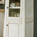 Vitrina de baño, vitrina blanca, alacena blanca, alacena rustica, mueble rustico