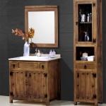 Mueble para pila de lavabo, mueble de baño, mueble de aseo, mueble rustico aseo