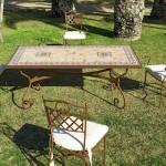 Juego mesa y silla forja