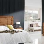 Dormitorio rustico madera