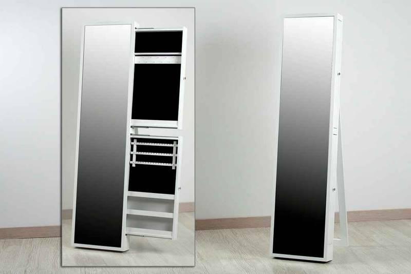 Espejo vestidor con cajones para joyero blanco alaro - Espejo joyero de pie ikea ...