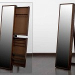 Espejo Vestidor Con Cajones para Joyero Nogal Alaro
