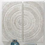Panel Tallado Blanco 2 Piezas