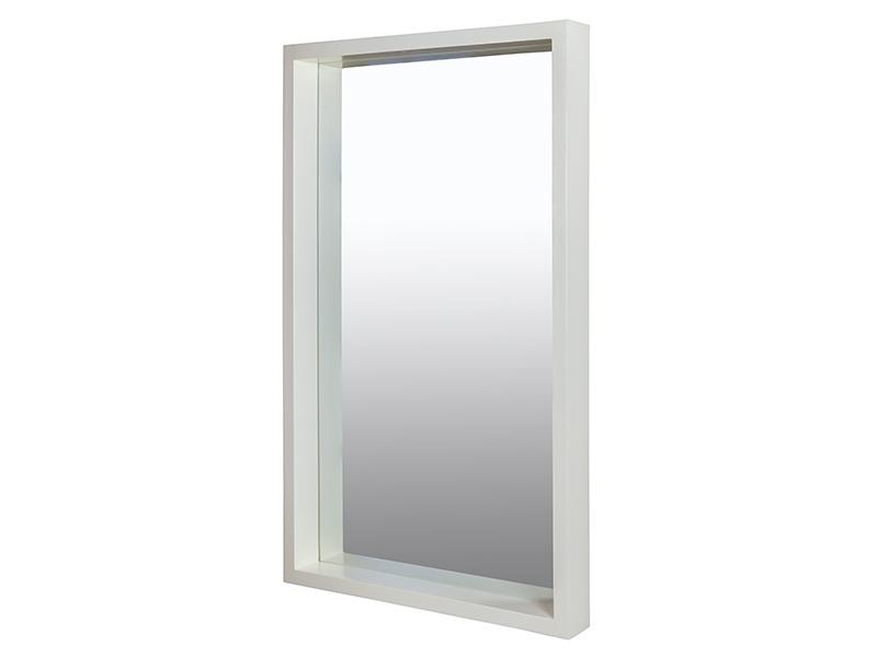 Espejo recibidor blanco