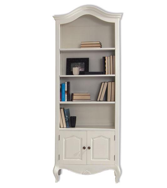 Libreria salon estilo clasico vintage blanco