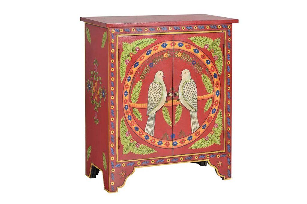 Consola 2 puertas colores dibujos palomas