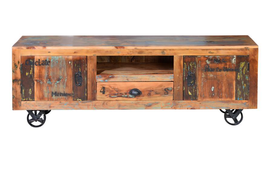 Mueble TV estilo rustico industrial colores desgastados