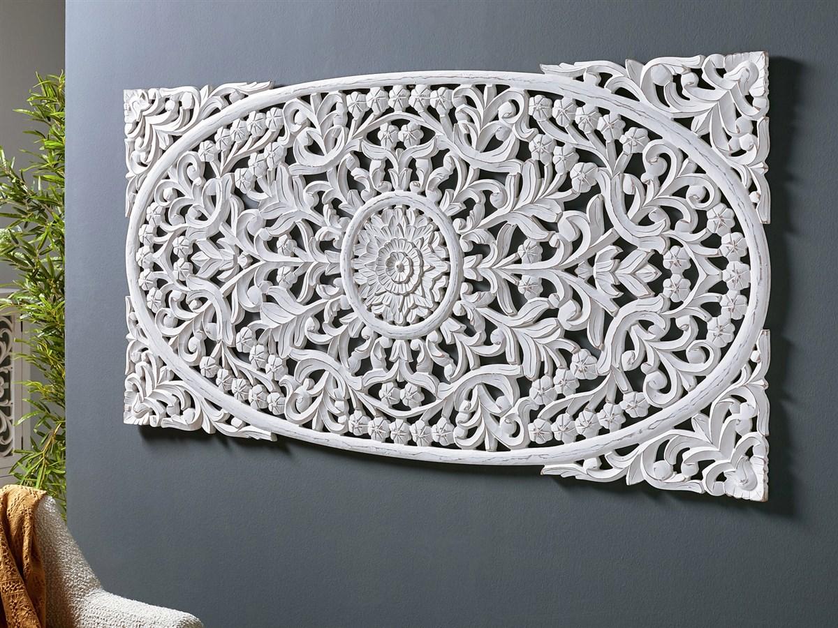 Panel tallado blanco formato mandala