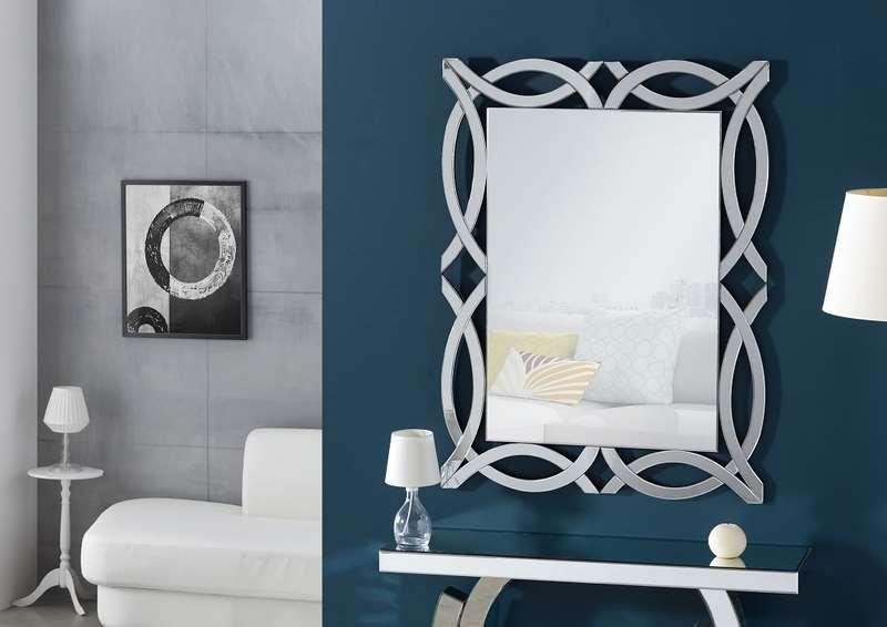 Espejo moderno marco cristal recibidor