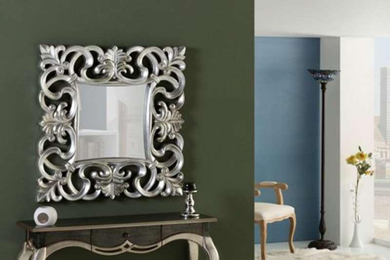 Espejo recibidor tallado clasico en plata