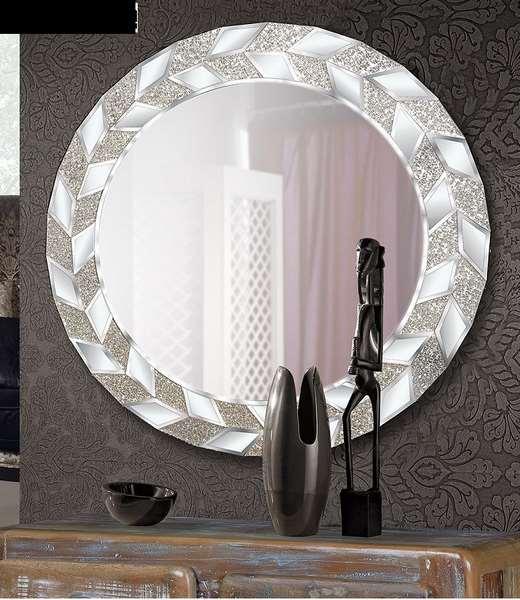Espejo redondo actual marco decorado