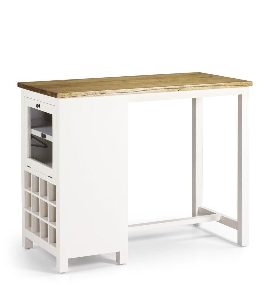 Mueble bar con mostrador blanco