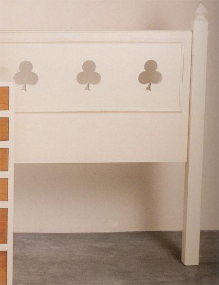 Cabecero madera blanca diseño