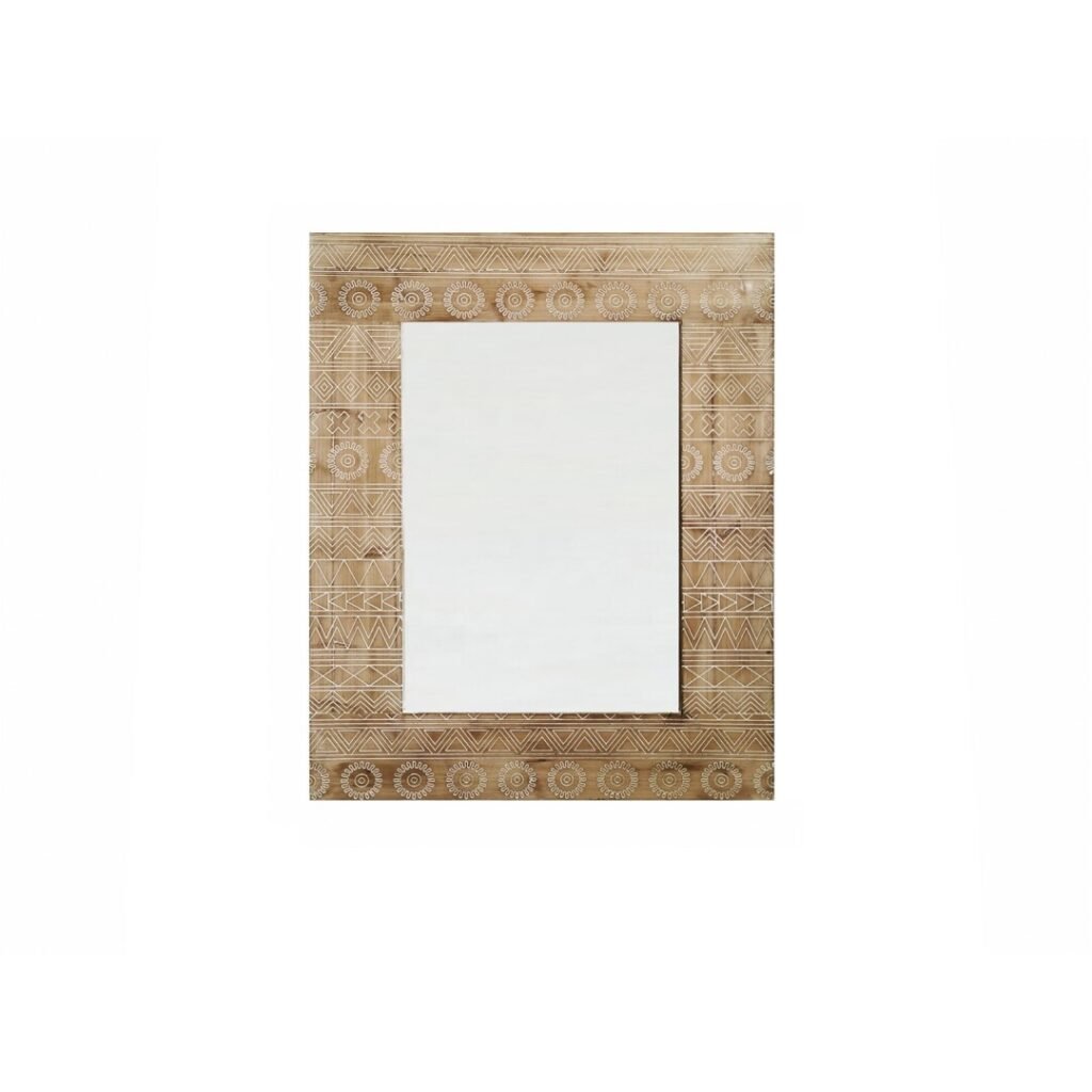 Espejo tallado madera natural